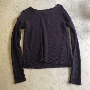 purple long sleeve sweater